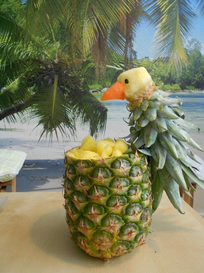 Een ananas papegaai
