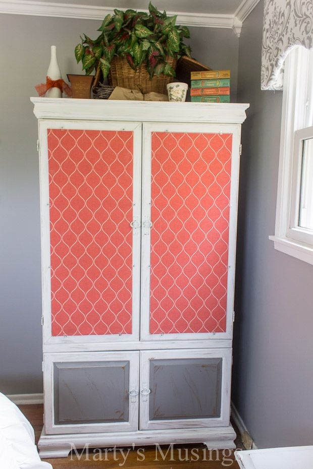 Gray And Coral Bedroom Makeover