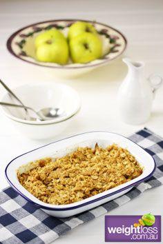 Low Fat Apple & Pear Crumble. #HealthyRecipes #DietRecipes #WeightLossRecipes weightloss.com.au