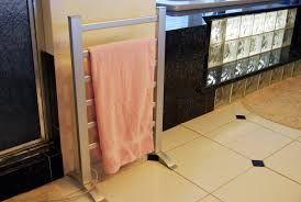 Image result for bathroom heated towel rack ideas