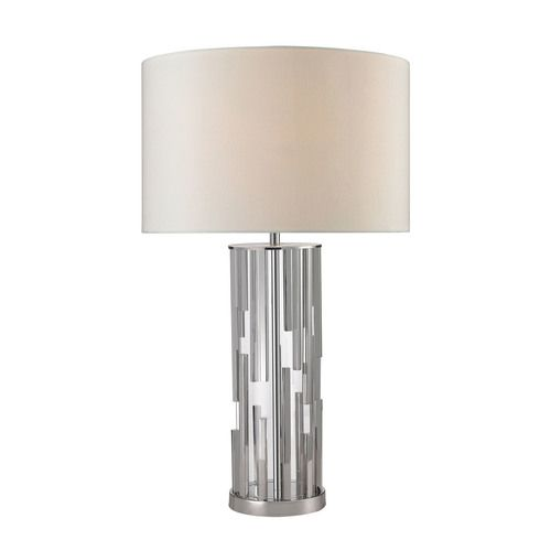 Trump Home Livornio Clear Glass Table Lamp in Polished Nickel - D2673