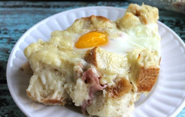 Recette de casserole déjeuner croque-madame pour brunchs!