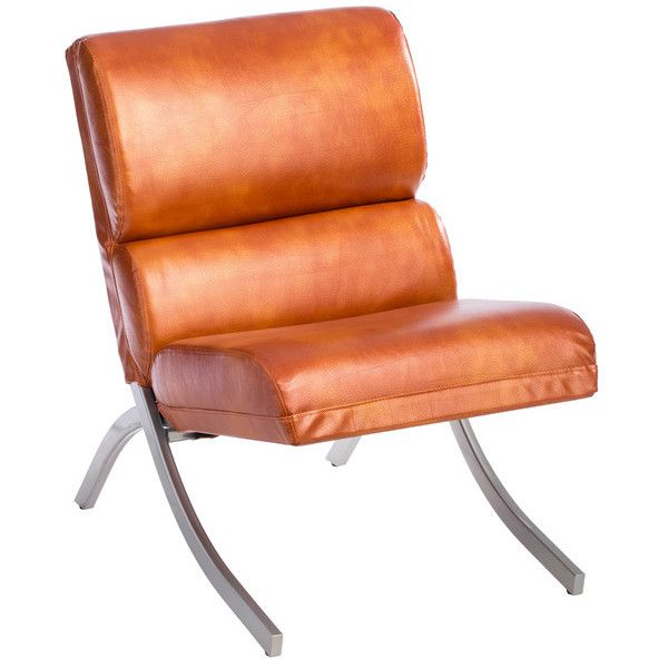 Rialto Rust Faux Leather Chair: Rialto Rust Faux Leather Chair ($190) Liked On Polyvore