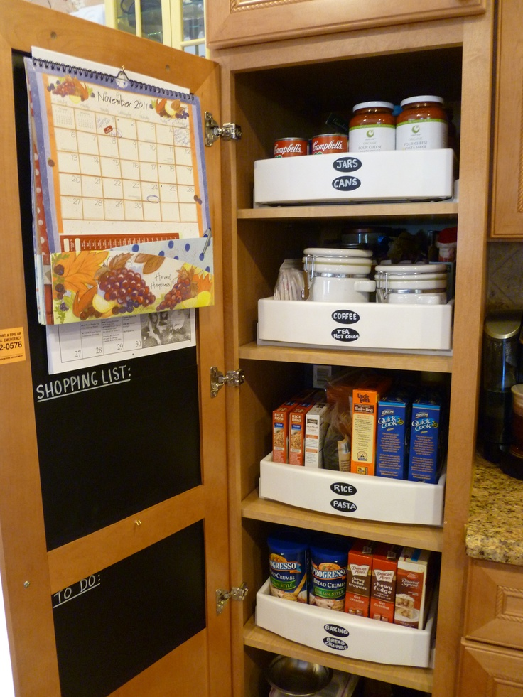 Kitchen Pantry Closet I Purchased Pull Out Drawers So The