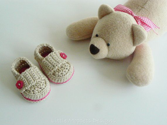 Baby Girl Loafers  Beige Baby Shoes  by LittleMoppetsDesigns