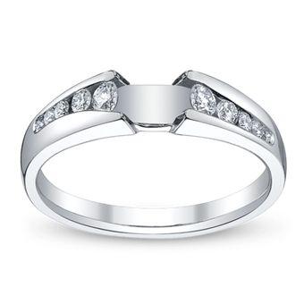 Ladies 14K White Gold Engagement Ring