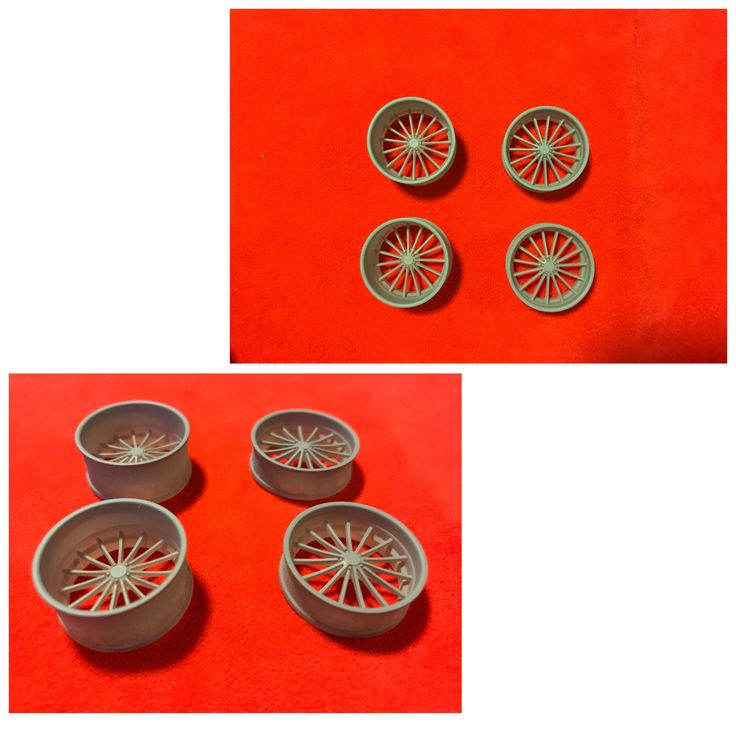 "Legendary Miniatures plastic US MAGS "" Heritage U427""  edition 1/24 scale replica wheels"