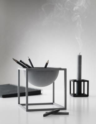 Decorate Shop - Kubus Bowl, stor i grå