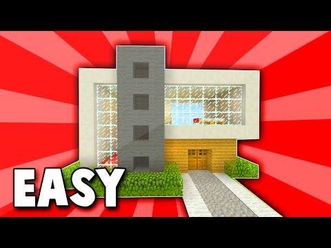 Minecraft: Easy Modern House Tutorial (#1)( Easy ) (PC/PE/Xbox/Playstation/) - YouTube
