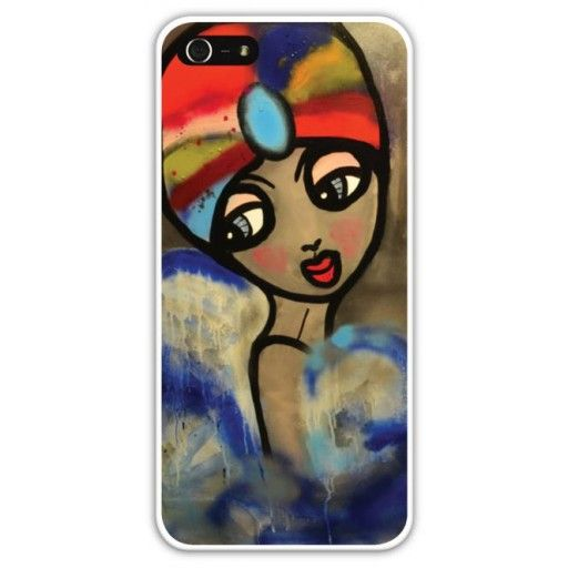 "iPhone case ""Baletthoppan"" by Karolina Konst #nordicdesigncollective #iphone #iphonecase #karolinakonst #baletthoppan #colorful #color #red #blue #ballet #dance #woman #girl #blue #iphonecover #art #painting #reproduction #purple #smartphone #accessory"