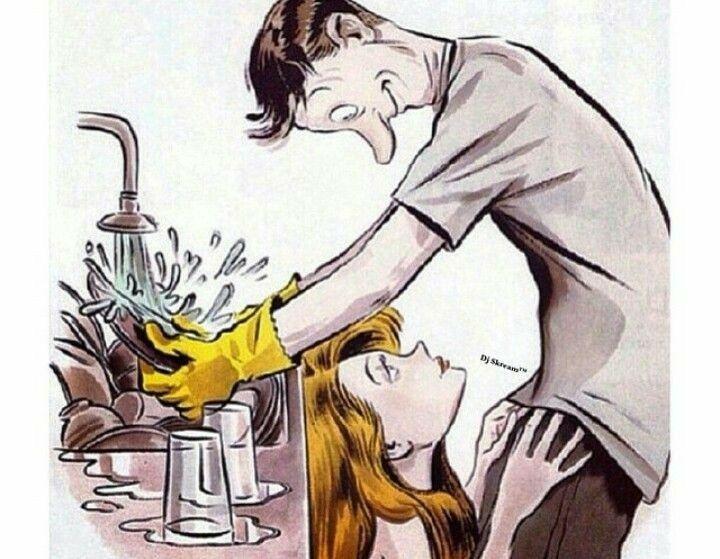 i don't mind washing dishes