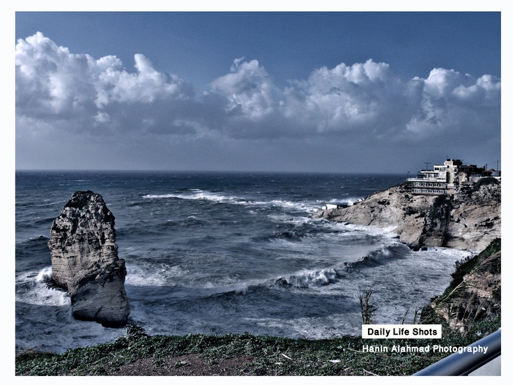 one Side of Rawsheh rock, Beirut, Lebanon
