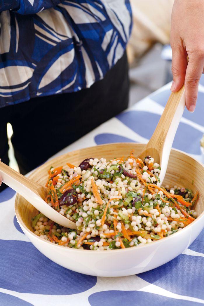 Ptitim Salad with Herbs