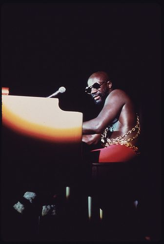 awesome Black Soul Singer Isaac Hayes Performs At The International Amphitheater In Chicago, 10/1973