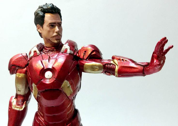 Iron Man senza maschera, numero 1 della Marvel Movie Collection (Eaglemoss). #Marvel #IronMan #Figures