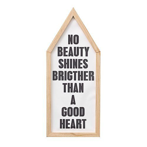Bloomingville Tekst in Lijst - No Beauty