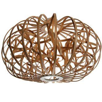 steam bending techniques of wood ---  Ribbon Pendant Light from Tom Raffield (MARK Product)