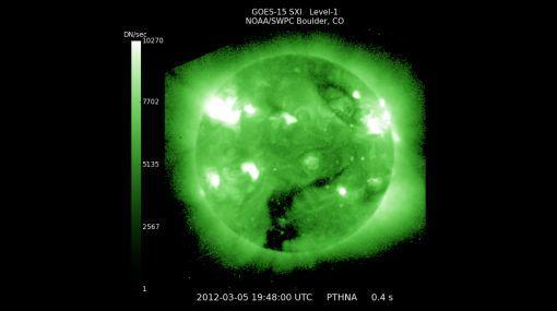 Una de las más poderosas erupciones solares