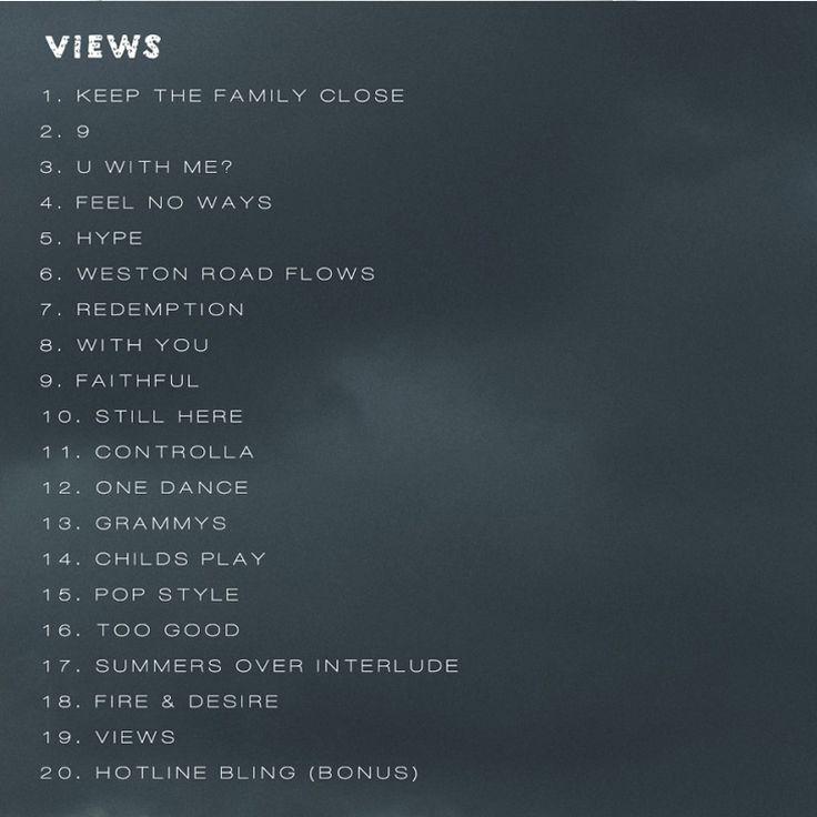 Drake – Views [Tracklist + Album Cover] Lyrics