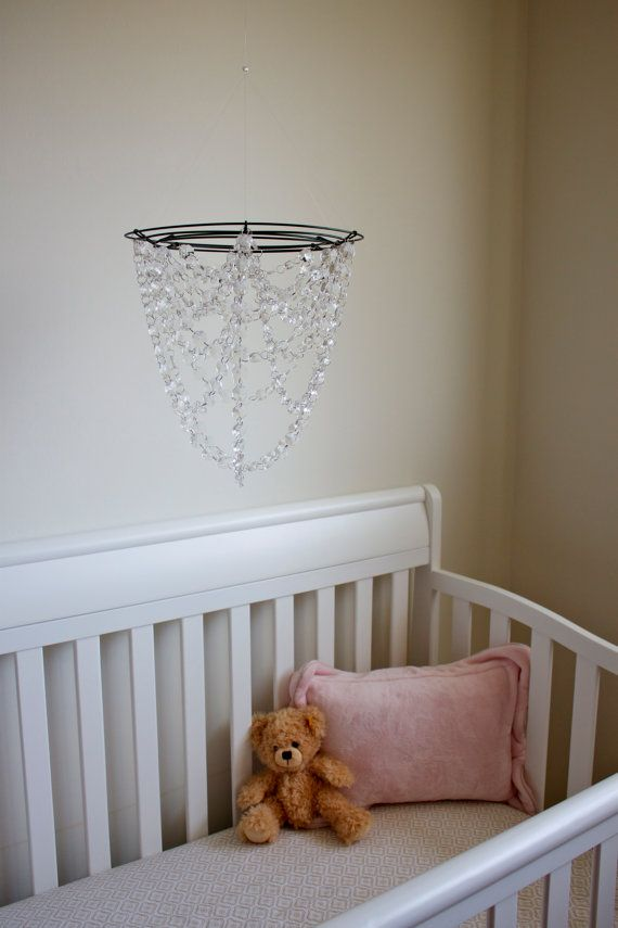nursery with chandelier