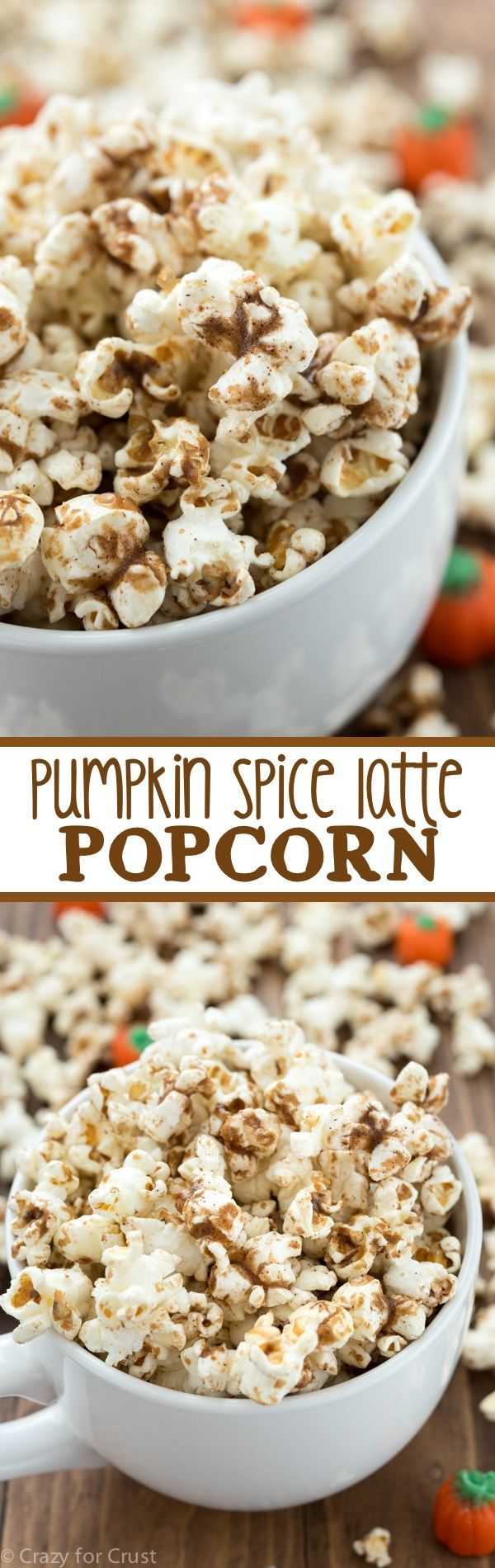 Pumpkin Spice Latte Popcorn - an easy and fast recipe that turns the pumpkin…