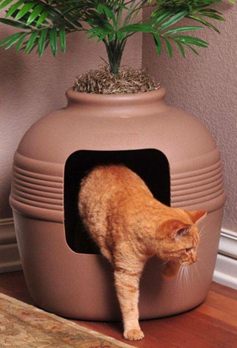 Covered Hidden Cat Litter Box