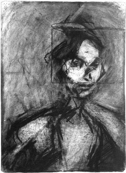 Frank Auerbach. drawing.