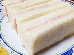 *忘れられないシンプルハムサンドイッチ*