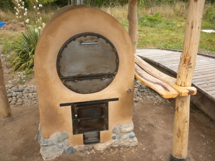A barrel oven - a faster cooking alternative to a cob oven!