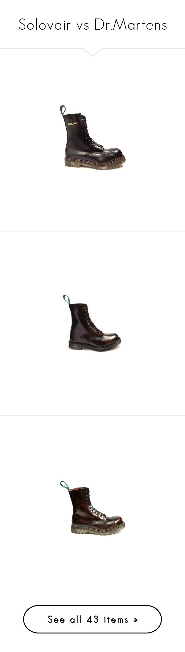 """""""Solovair vs Dr.Martens"""" by lorika-borika on Polyvore featuring shoes, boots, safety toe caps, safety toe shoes, real leather boots, black leather boots, leather shoes, burgundy leather boots, genuine leather boots и real leather shoes"""