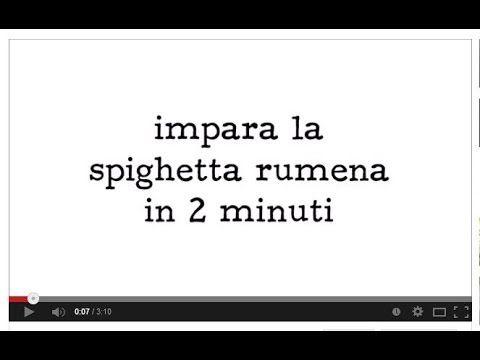 Impara la spighetta rumena in 2 minuti - YouTube