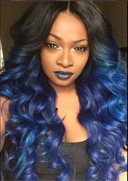 1b Blue Loose Wave So Much Beautiful Http Www Sishair