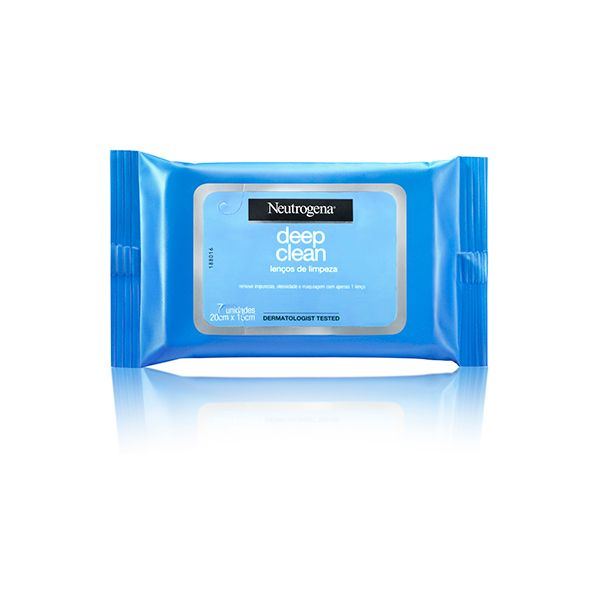 Lenços de Limpeza Facial Neutrogena Deep Clean Demaquilante