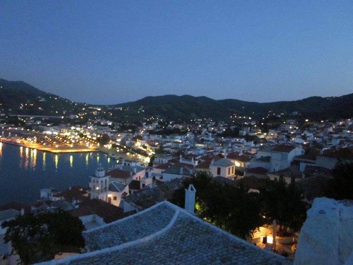 Skopelos island, Greece by night :)