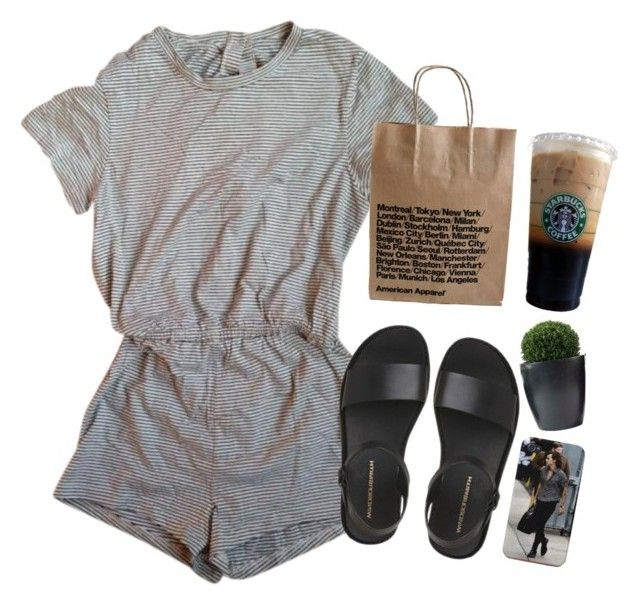"""errand run"" by daisym0nste ❤ liked on Polyvore featuring American Apparel, women's clothing, women's fashion, women, female, woman, misses and juniors"