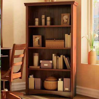 South Shore Gascony Shelf Bookcase in Sumptuous Cherry 7356 FREE SHIPPING
