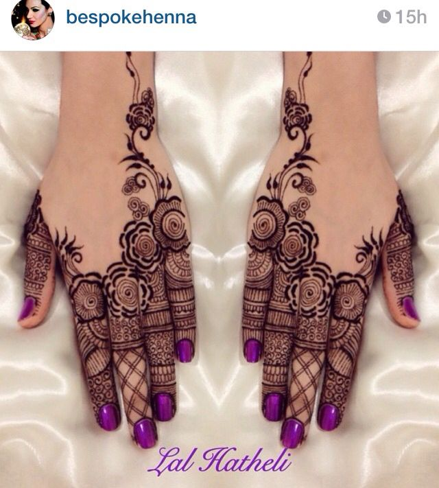 Beautiful mehndi by #bespokehenna