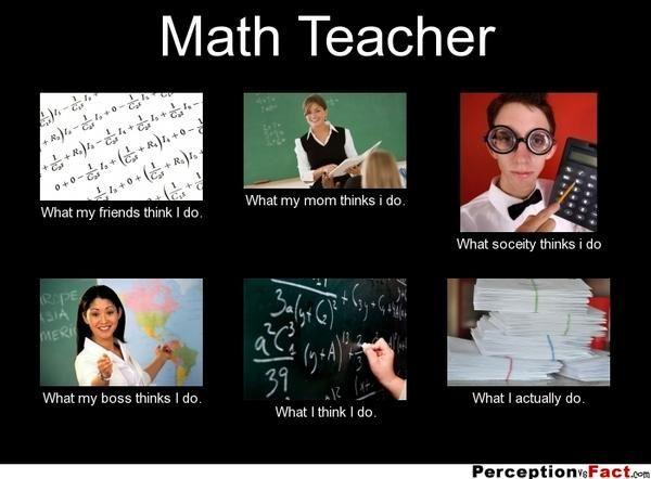 Math Teacher Meme What Everyone Thinks You Do Teacher Memes Math Teacher Creative Math