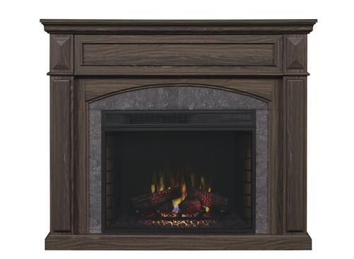 """ChimneyFree™ 50"""" Granton Electric Fireplace Entertainment Center in Soft Brown at Menards®: ChimneyFree™ 50"""" Granton Electric Fireplace Entertainment Center in Soft Brown"""