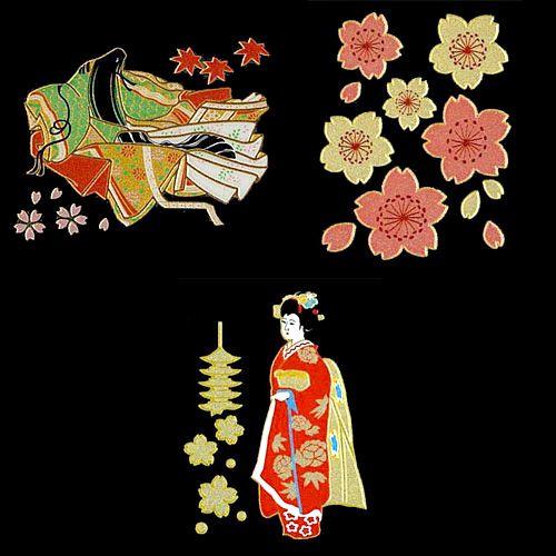 Japanese Pattern Maki-e Sticker : For Girls $17.96