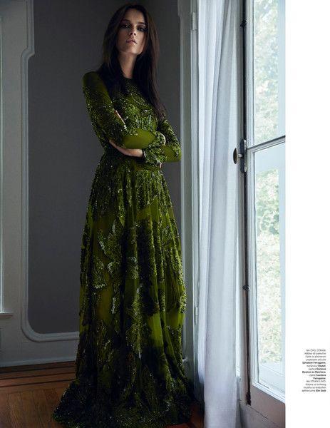 Modest Green Gown