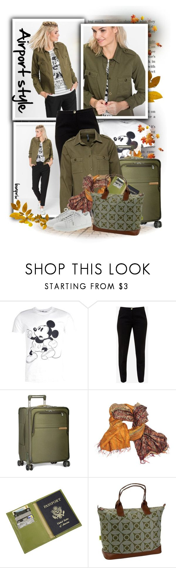 """""""Vintage Mickey Mouse Print T-Shirt"""" by tasha1973 ❤ liked on Polyvore featuring Ciel, Ted Baker, Briggs & Riley, Mélange Home, Piel Leather, Amy Butler, Yves Saint Laurent and vintage"""