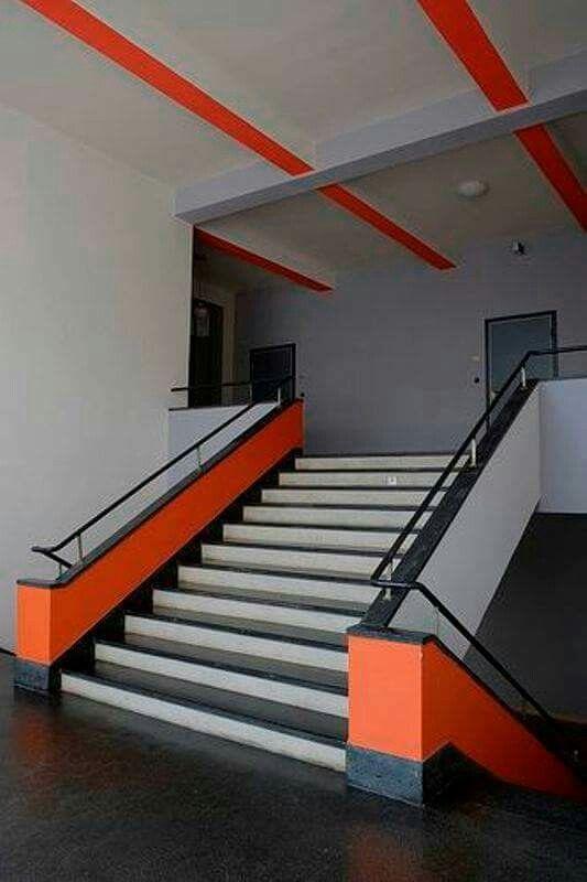 bauhaus farben architektur treppe interior innenarchitektur walter gropius schule suche farbe mischen lassen