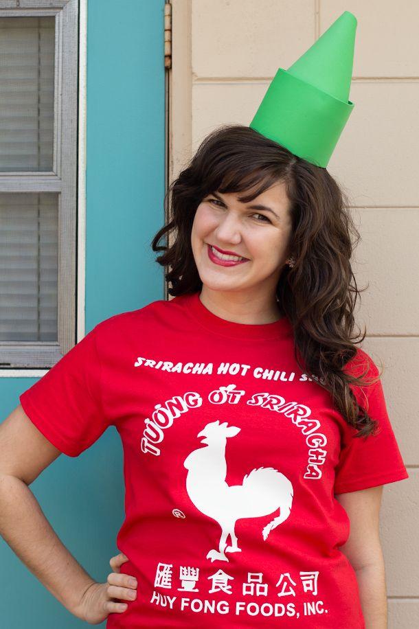 Sarah Hearts - DIY Sriracha Costume