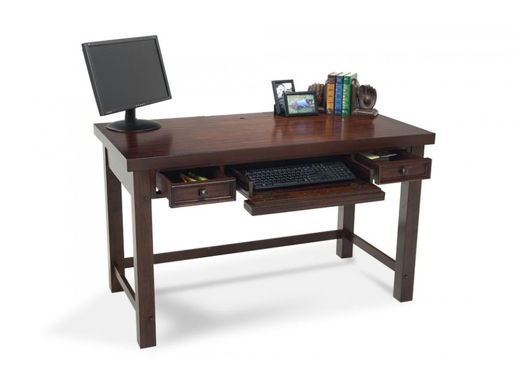 Transitional Desk In A Pecan Finish!