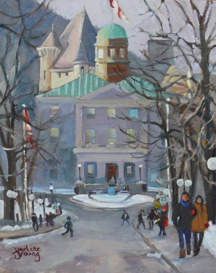 Montreal Scene, McGill Springtime, 8x10 Oil, Darlene Young Canadian Artist #Impressionism