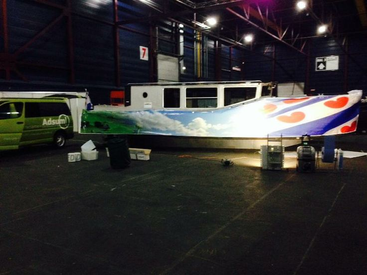Full Color print on aluminumship 8 meters long