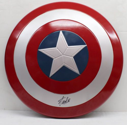 STAN LEE SIGNED AUTOGRAPHED CAPTAIN AMERICA SHIELD MARVEL COMICS