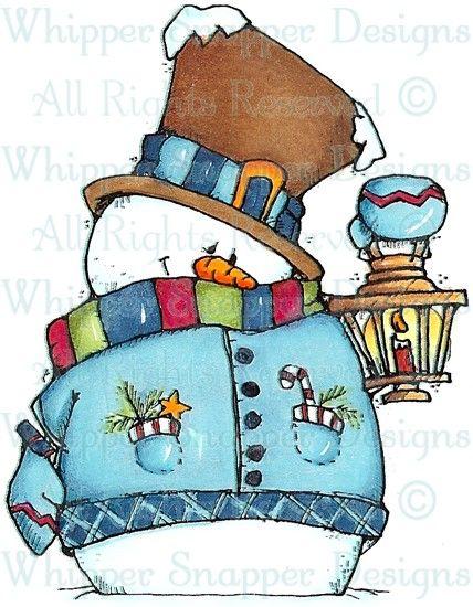 Lantern Snowman - Snowmen Images - Snowmen - Rubber Stamps - Shop