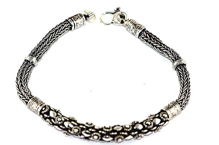 Pulseira Prata de Bali Pikun Roliça - 03000